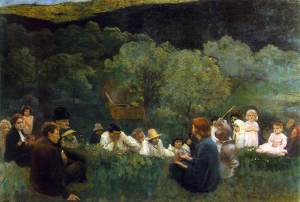 Károly Ferenczy, Sermon on the Mountain, 1896