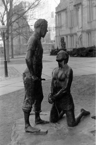 Abraham and Isaac, in memory of May 4, 1970, Kent State University, George Segal