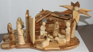 Nativity set with Separation Wall