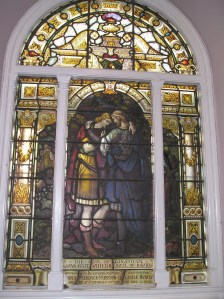 David and Jonathan window from St. Mark's Portobello, Edinburgh, Scotland, 1882