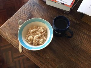Sunday breakfast - rice and hot water