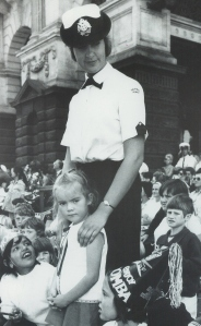 Female police officer at the 1972 Moomba Parade