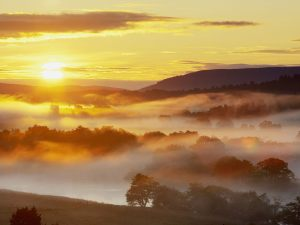 Strathspey at sunrise, Scotland