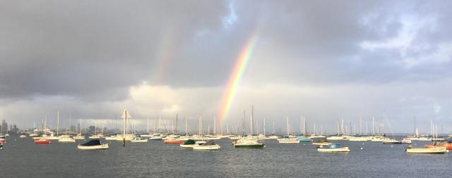 Rainbow over Williamstown