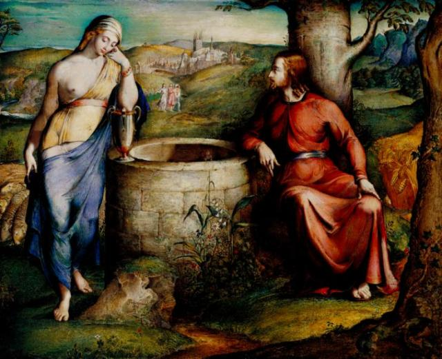Christ and the Woman of Samaria 1828 by George Richmond 1809-1896