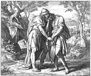 Jonathan and David_s Friendship by Julius Schnorr von Carolsfeld