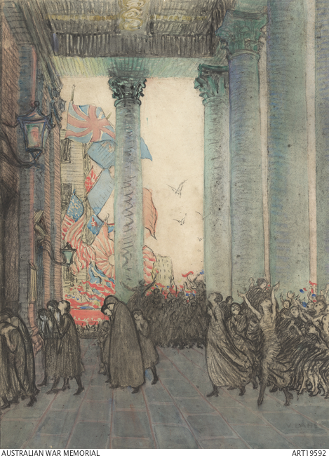 Rejoicing & Remembering, Armistice Day, London 1918 by Vida Lahey, 1924