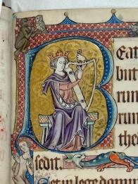 King David, Luttrell Psalter, British Library Catalogue of Illuminated Manuscripts
