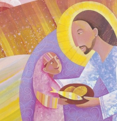From Jesus the Word by Mark Francisco Bozzuti-Jones, illustrated by Shelly Hehenberger.