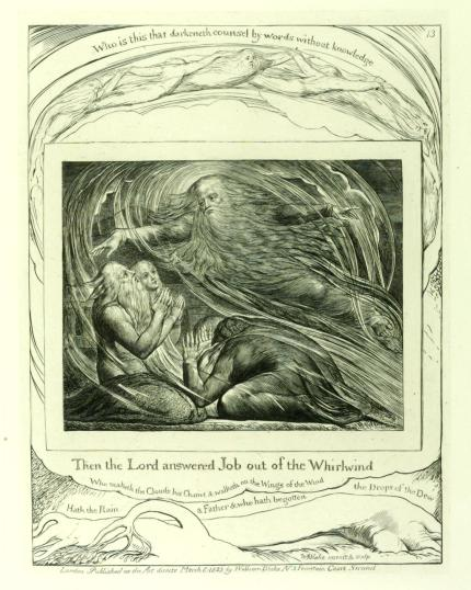 The Lord Answering Job out of the Whirlwind 1825, reprinted 1874 by William Blake 1757-1827